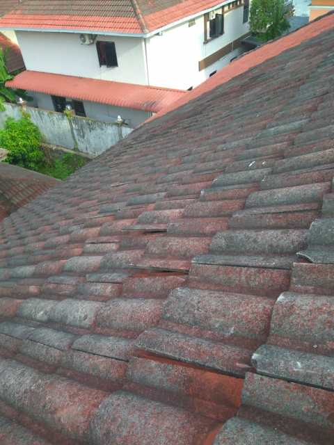 Leaking roof tiles